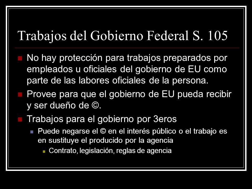 Trabajos del Gobierno Federal S.