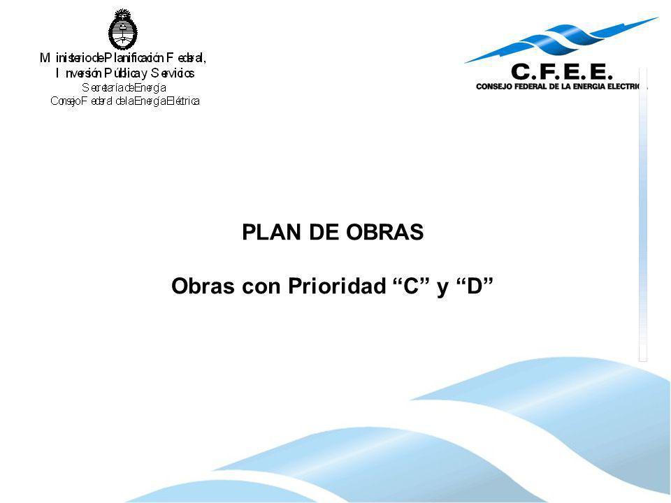 PLAN DE OBRAS Obras con Prioridad C y D