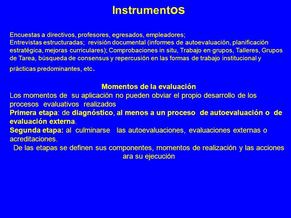 Instrument os Encuestas a directivos, profesores, egresados, empleadores; Entrevistas estructuradas; revisión documental (informes de autoevaluación,
