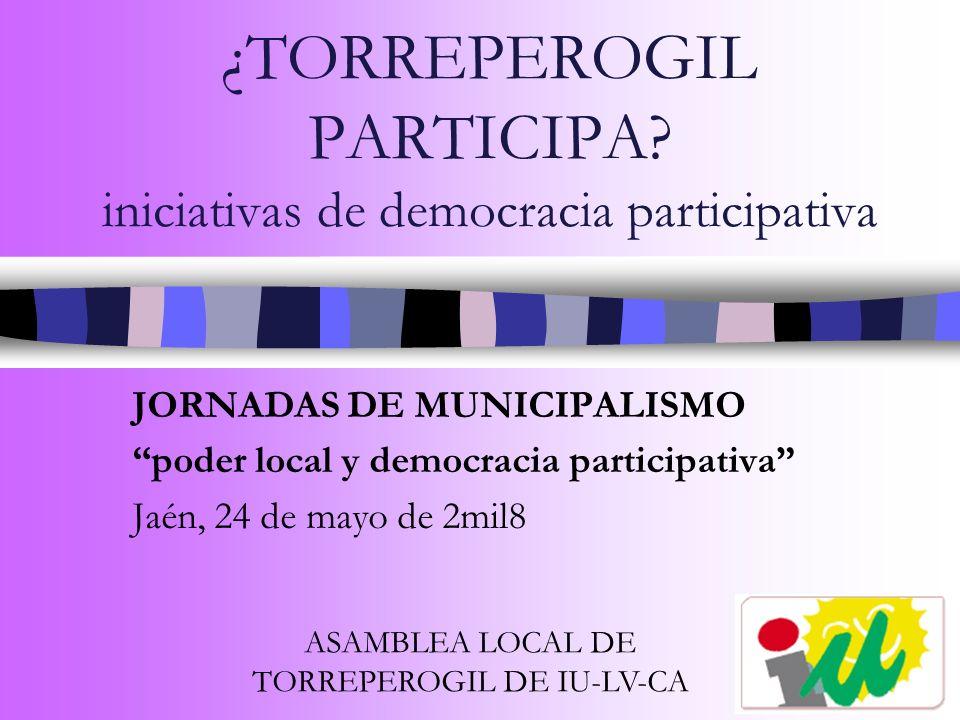 DEMOCRACIA PARTICIPATIVA –Corresponsabilidad de la población.