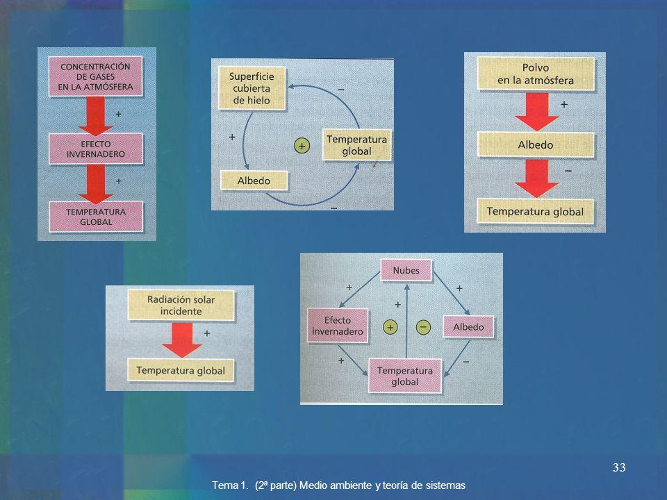 33 Tema 1. (2ª parte) Medio ambiente y teoría de sistemas