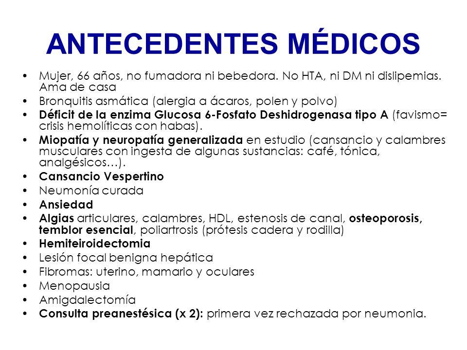 + + SOSPECHAS RELACIÓN CON DEFICIT G6PDH DEFICIT COLINESTERASA SÉRICA ALTERACIÓN IONES (Ca++, K+…) RELACIÓN CON MIOPATÍA NO FILIADA INTERACCION MEDICAMENTOSA