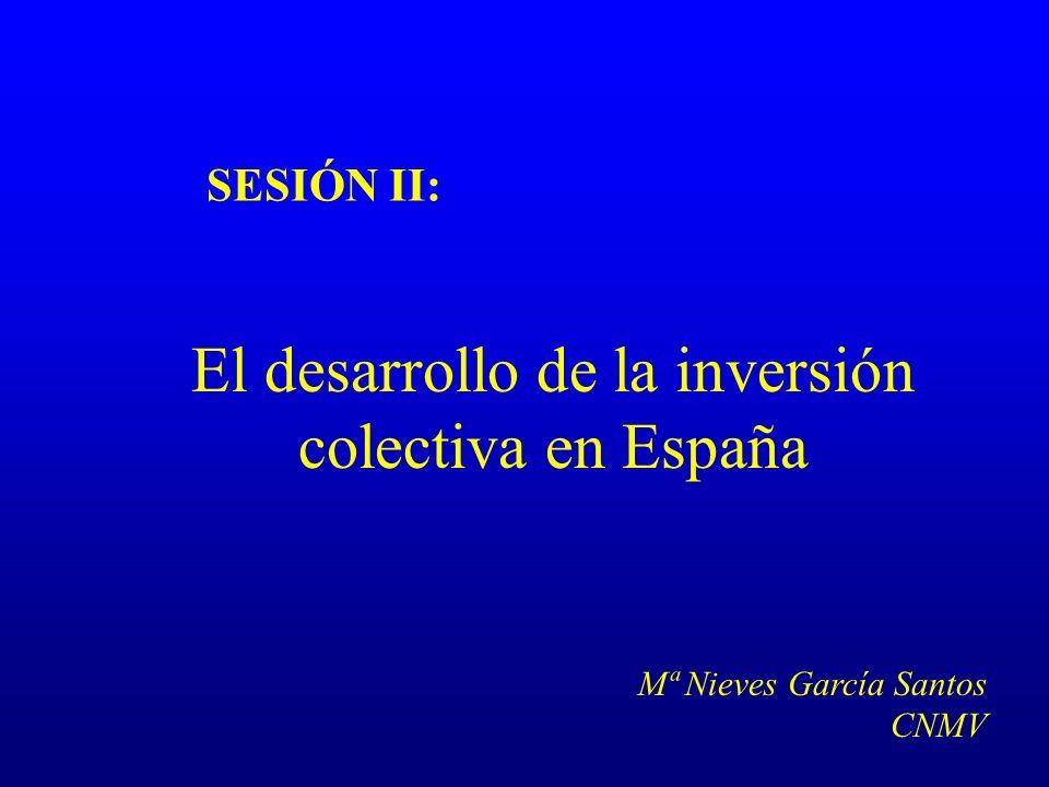 SESIÓN II: El desarrollo de la inversión colectiva en España Mª Nieves García Santos CNMV