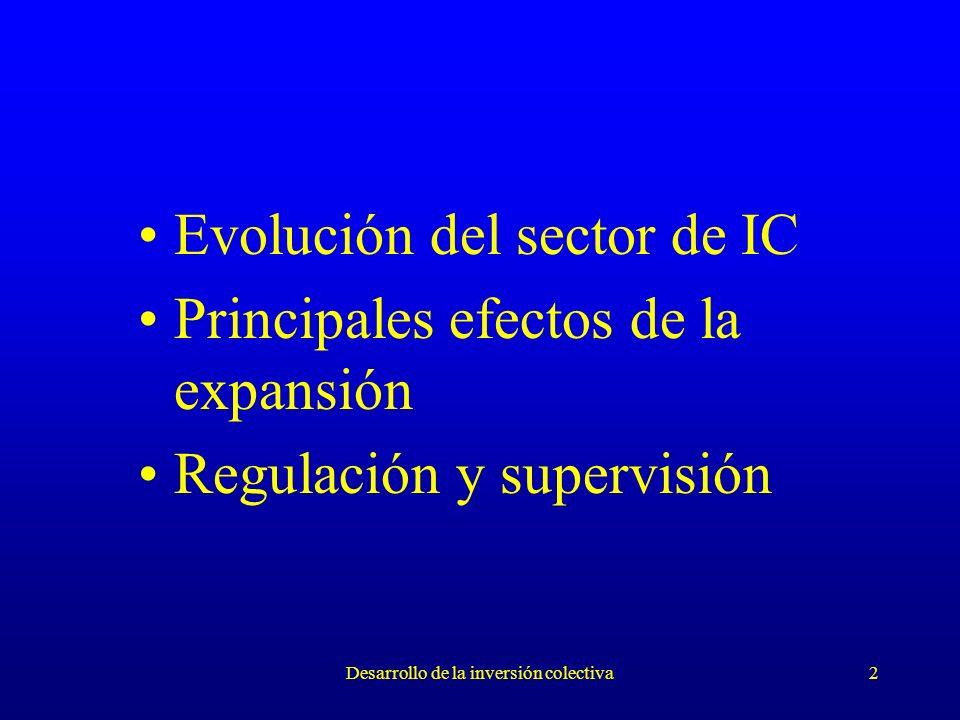 Desarrollo de la inversión colectiva2 Evolución del sector de IC Principales efectos de la expansión Regulación y supervisión