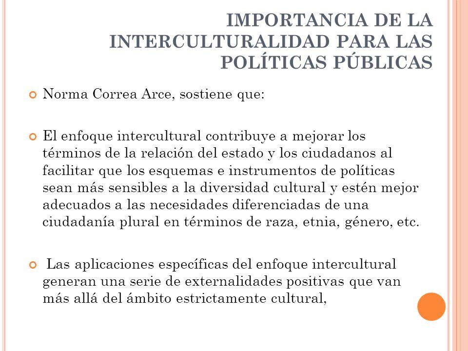 EL ENFOQUE DE INTERCULTURALIDAD CONSTRUYENDO POLÍTICAS PÚBLICAS DESDE LA DIVERSIDAD