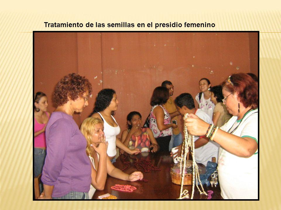 Tratamiento de las semillas en el presidio femenino