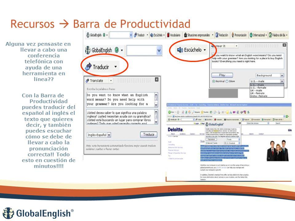 Recursos Barra de Productividad Alguna vez pensaste en llevar a cabo una conferencia telefónica con ayuda de una herramienta en línea .