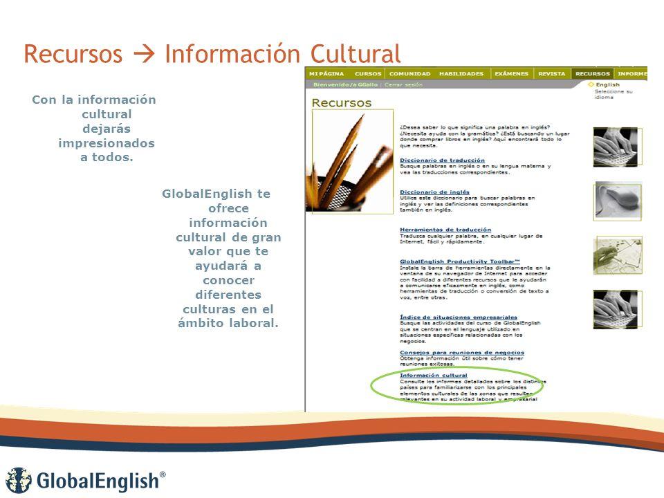Recursos Información Cultural Con la información cultural dejarás impresionados a todos.
