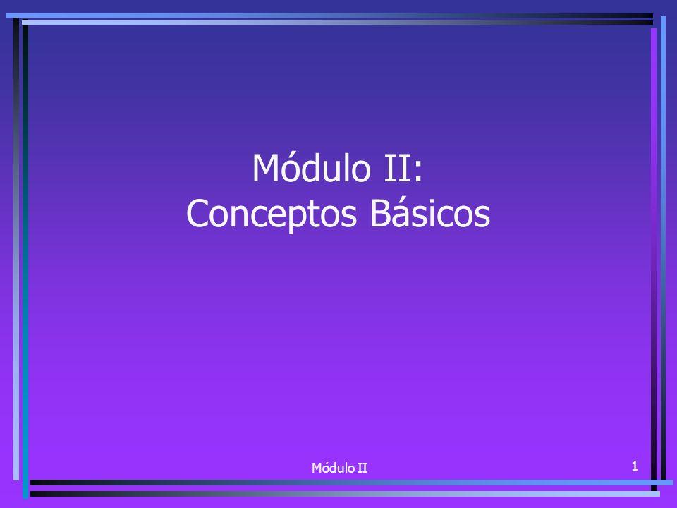 Módulo II 1 Módulo II: Conceptos Básicos