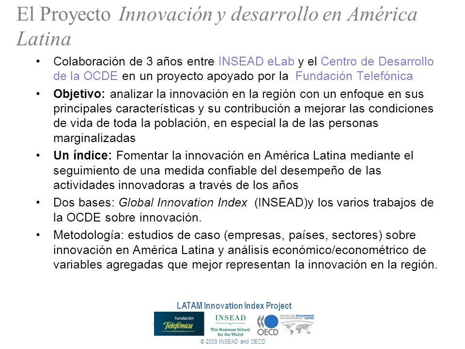 © 2009 INSEAD and OECD LATAM Innovation Index Project El Proyecto Innovación y desarrollo en América Latina Colaboración de 3 años entre INSEAD eLab y