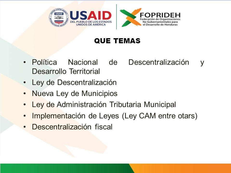 PRINCIPALES ACCIONES 4.Creación y funcionamiento del Observatorio de la Descentralización 5.Sensibilización de la ciudadanía para mejorar percepción s