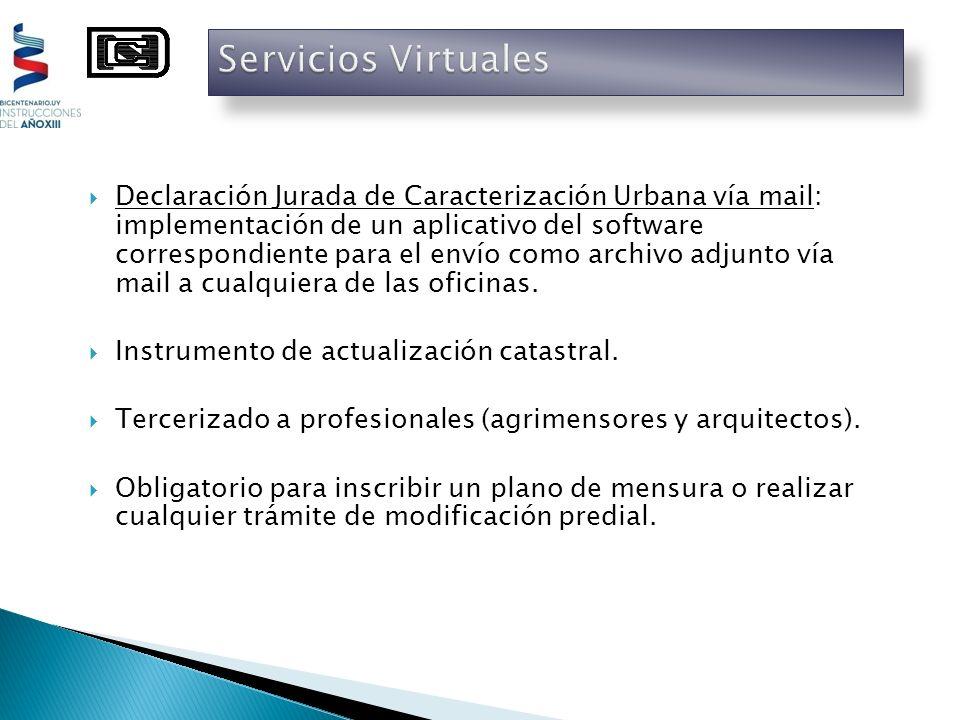 Declaración Jurada de Caracterización Urbana vía mail: implementación de un aplicativo del software correspondiente para el envío como archivo adjunto