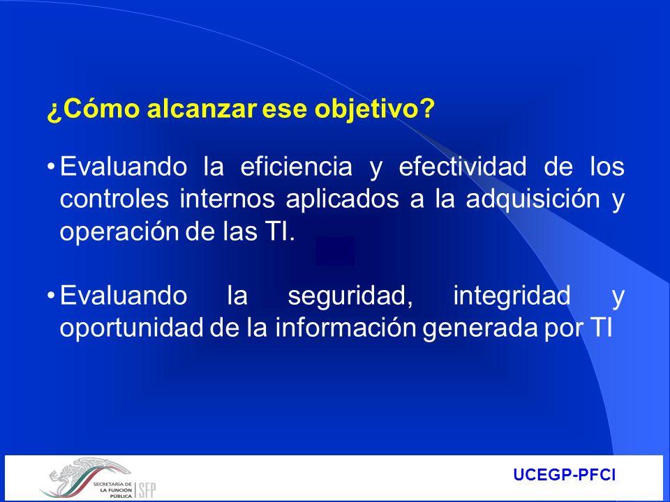 UCEGP-PFCI ¿Cómo alcanzar ese objetivo? Evaluando la eficiencia y efectividad de los controles internos aplicados a la adquisición y operación de las