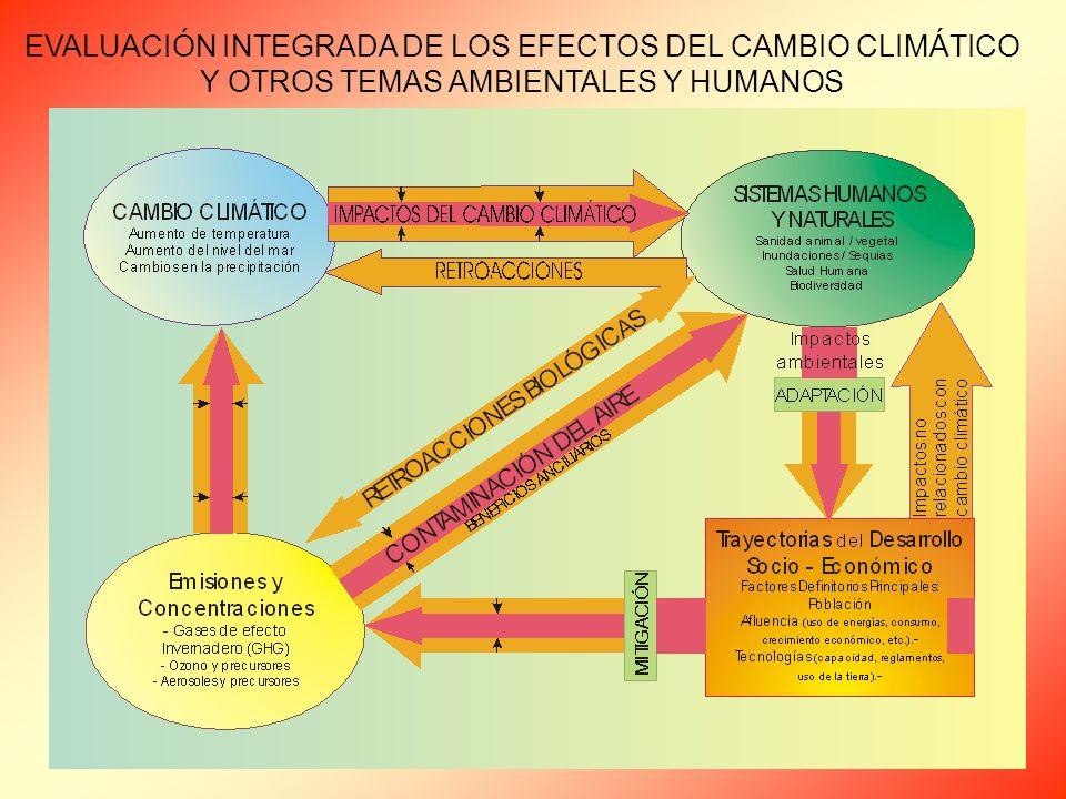 EVALUACIÓN INTEGRADA DE LOS EFECTOS DEL CAMBIO CLIMÁTICO Y OTROS TEMAS AMBIENTALES Y HUMANOS