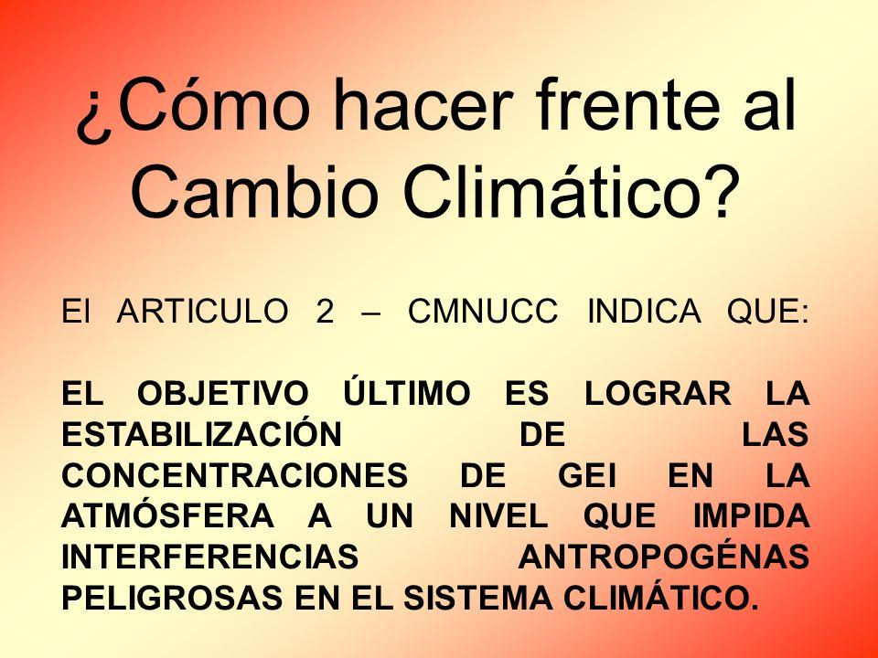 ¿Cómo hacer frente al Cambio Climático.