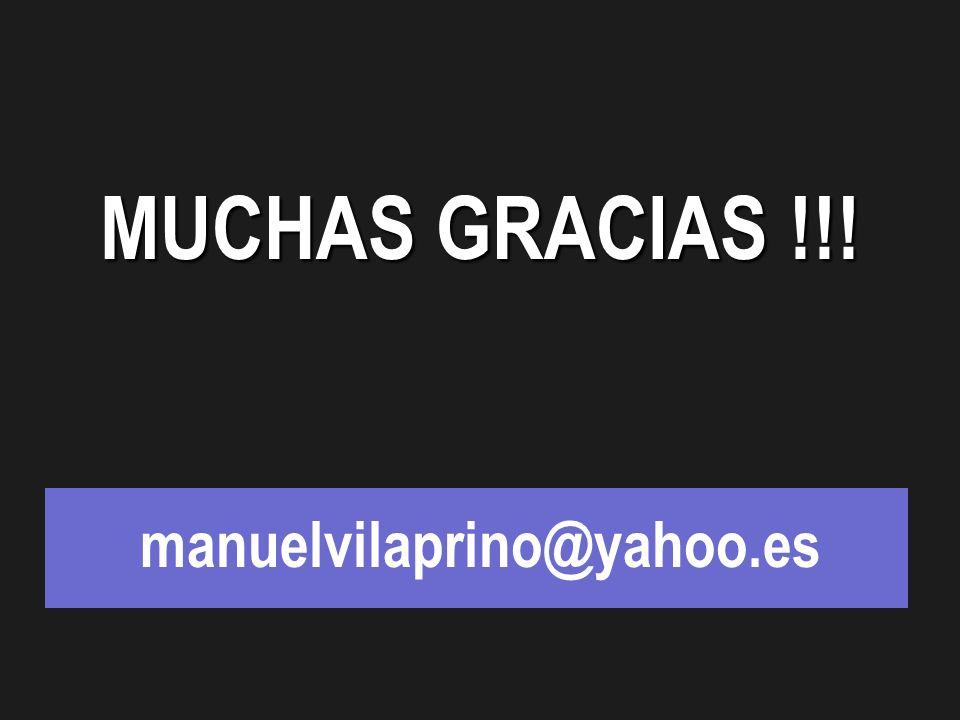 MUCHAS GRACIAS !!! manuelvilaprino@yahoo.es