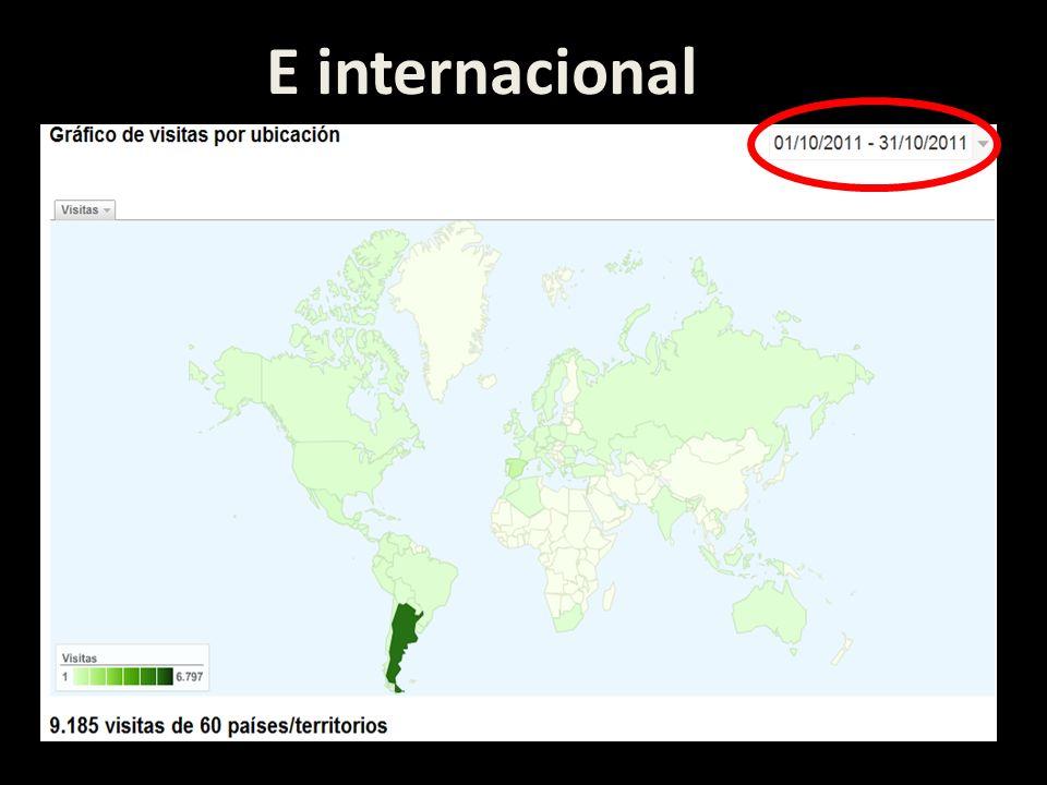 E internacional
