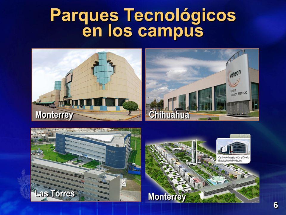 Parques Tecnológicos en los campus 6 Monterrey Las Torres Chihuahua Monterrey