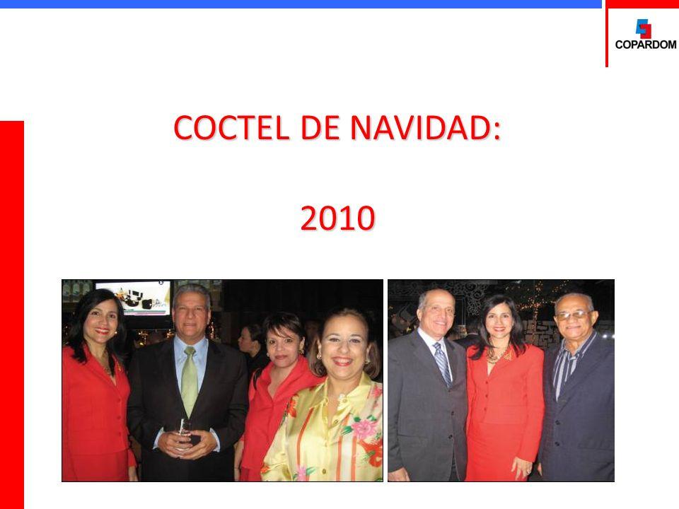 COCTEL DE NAVIDAD El ocho (8) de diciembre de 2010 COPARDOM realizó en el Bar Restaurante Mix un Coctel para celebrar las fiestas navideñas con la presencia de todos los miembros de la Junta Directiva, el Ministro de Trabajo, Dr.