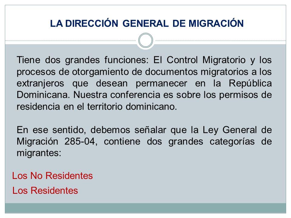 Tiene dos grandes funciones: El Control Migratorio y los procesos de otorgamiento de documentos migratorios a los extranjeros que desean permanecer en