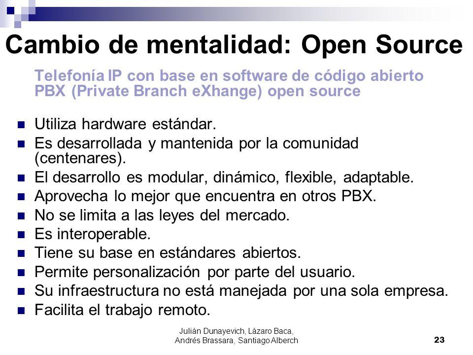 Julián Dunayevich, Lázaro Baca, Andrés Brassara, Santiago Alberch23 Cambio de mentalidad: Open Source Telefonía IP con base en software de código abie