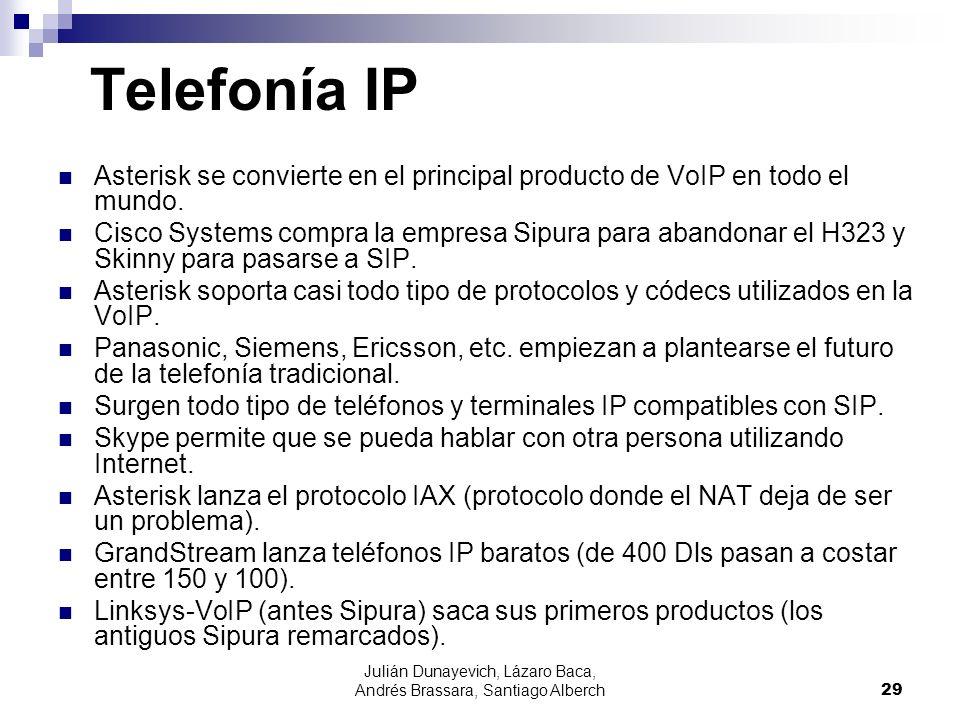Julián Dunayevich, Lázaro Baca, Andrés Brassara, Santiago Alberch29 Telefonía IP Asterisk se convierte en el principal producto de VoIP en todo el mun