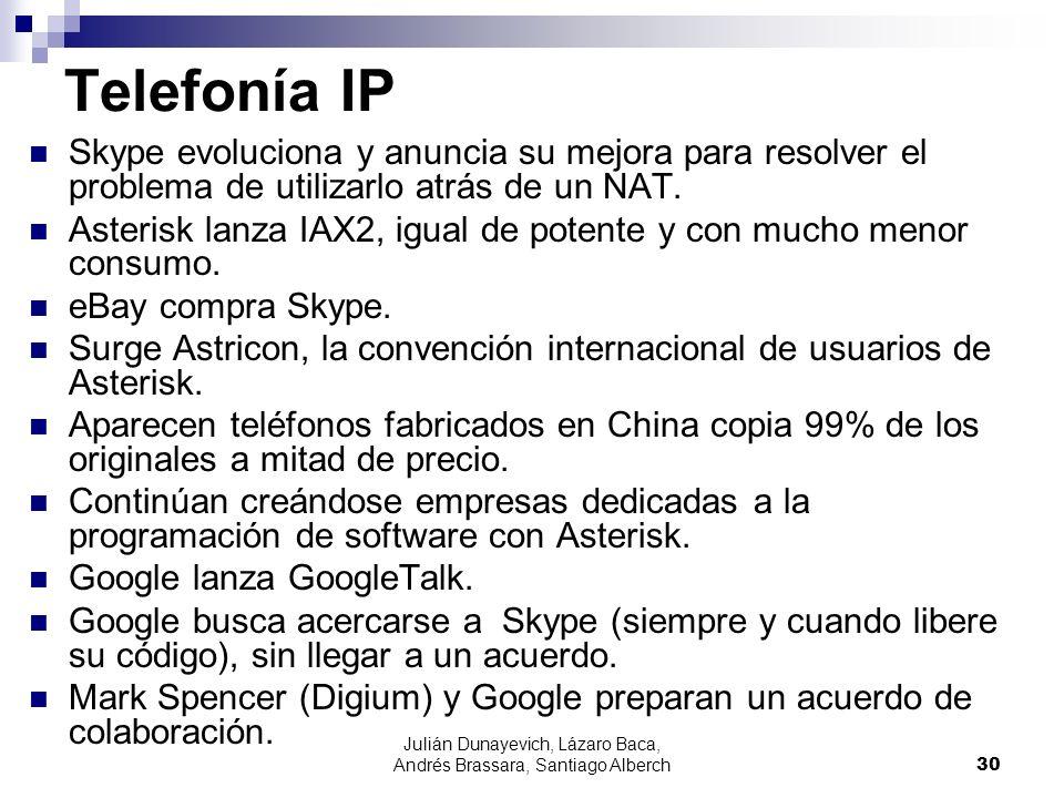 Julián Dunayevich, Lázaro Baca, Andrés Brassara, Santiago Alberch30 Telefonía IP Skype evoluciona y anuncia su mejora para resolver el problema de uti