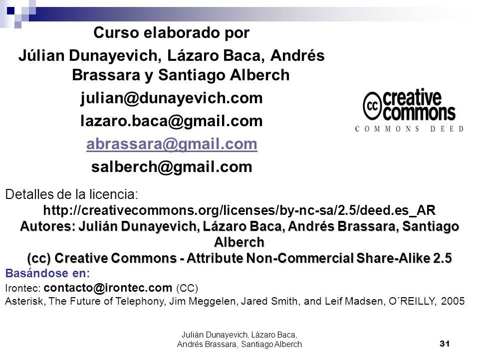 Julián Dunayevich, Lázaro Baca, Andrés Brassara, Santiago Alberch31 Curso elaborado por Júlian Dunayevich, Lázaro Baca, Andrés Brassara y Santiago Alb