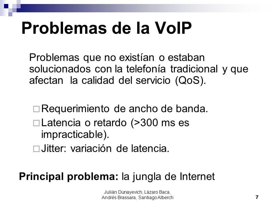 Julián Dunayevich, Lázaro Baca, Andrés Brassara, Santiago Alberch7 Problemas de la VoIP Problemas que no existían o estaban solucionados con la telefo