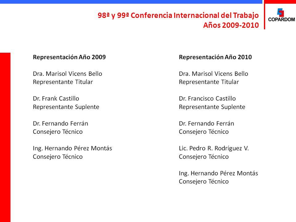 98ª y 99ª Conferencia Internacional del Trabajo Años 2009-2010