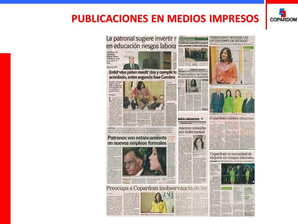 PUBLICACIONES EN MEDIOS IMPRESOS