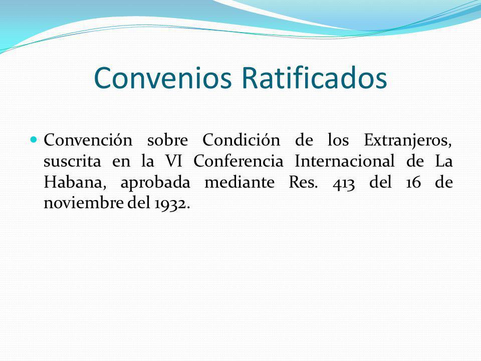 Convenios Ratificados Convención de Viena sobre Relaciones Diplomáticas, ratificada mediante Res.