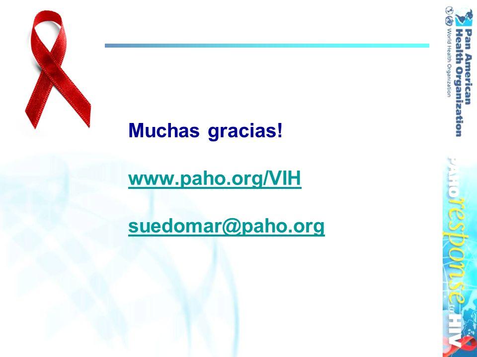 Muchas gracias! www.paho.org/VIH suedomar@paho.org www.paho.org/VIH suedomar@paho.org