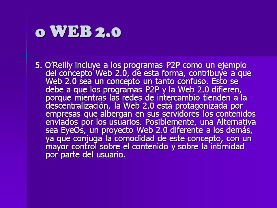 o WEB 2.0 3. Inseguridad de almacenamiento.