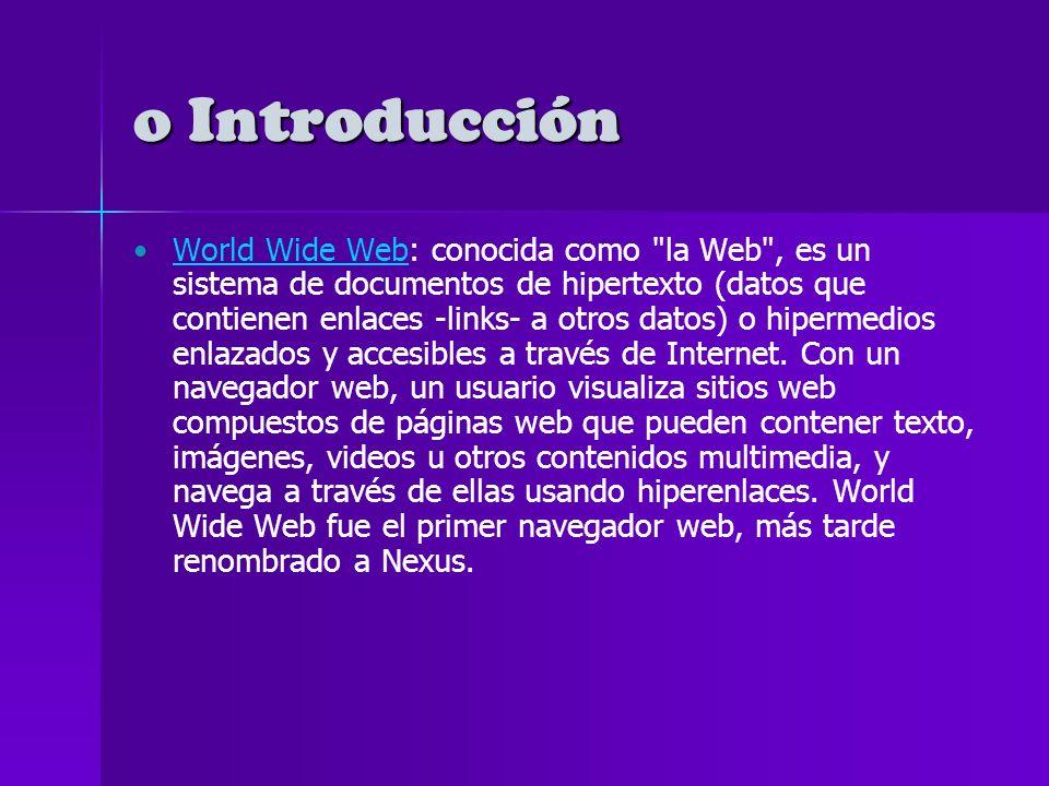 o LA WEB