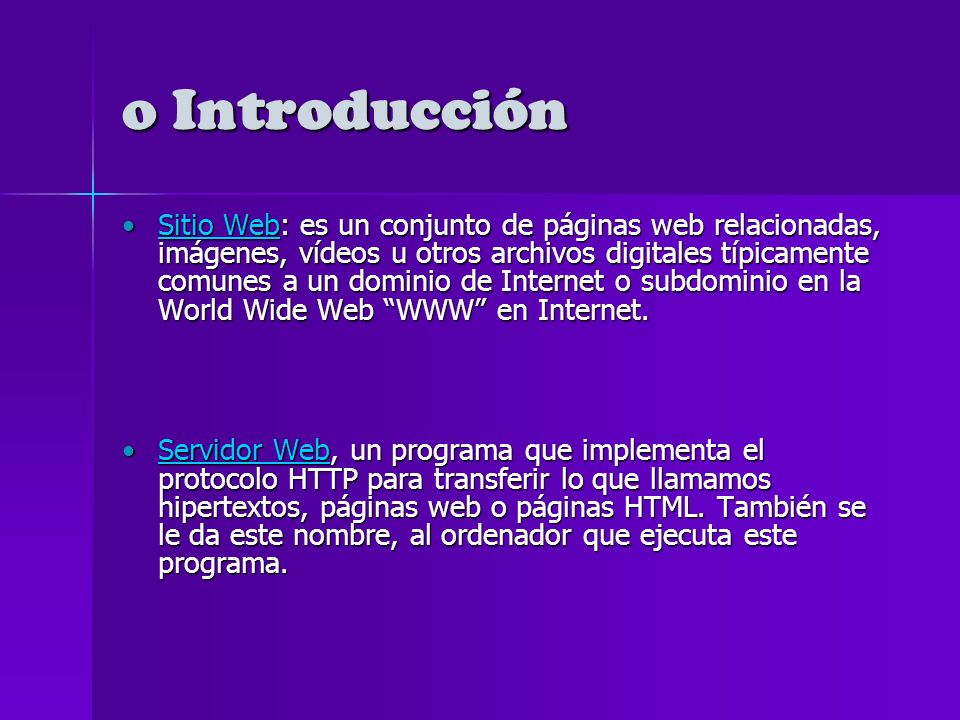 o WEB 2.0 (diferencias Web 1.0 vs.