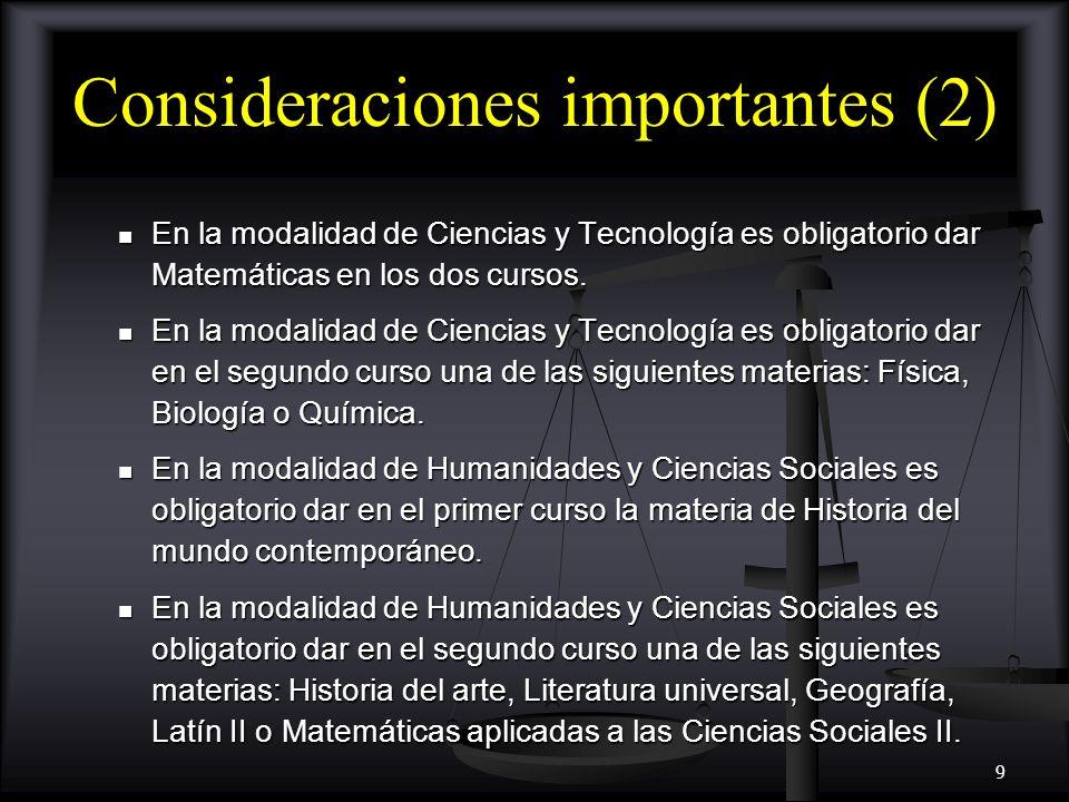 10 Áreas de conocimiento en bachillerato (IV) Materias optativas Materias optativas Complementan la formación específica o general.