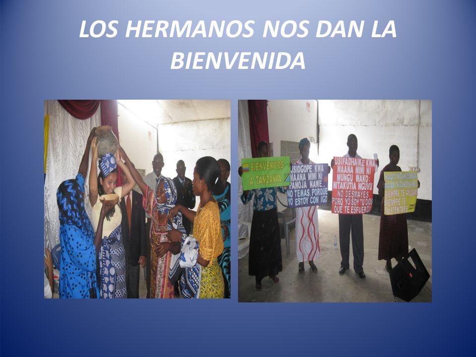 LOS HERMANOS NOS DAN LA BIENVENIDA