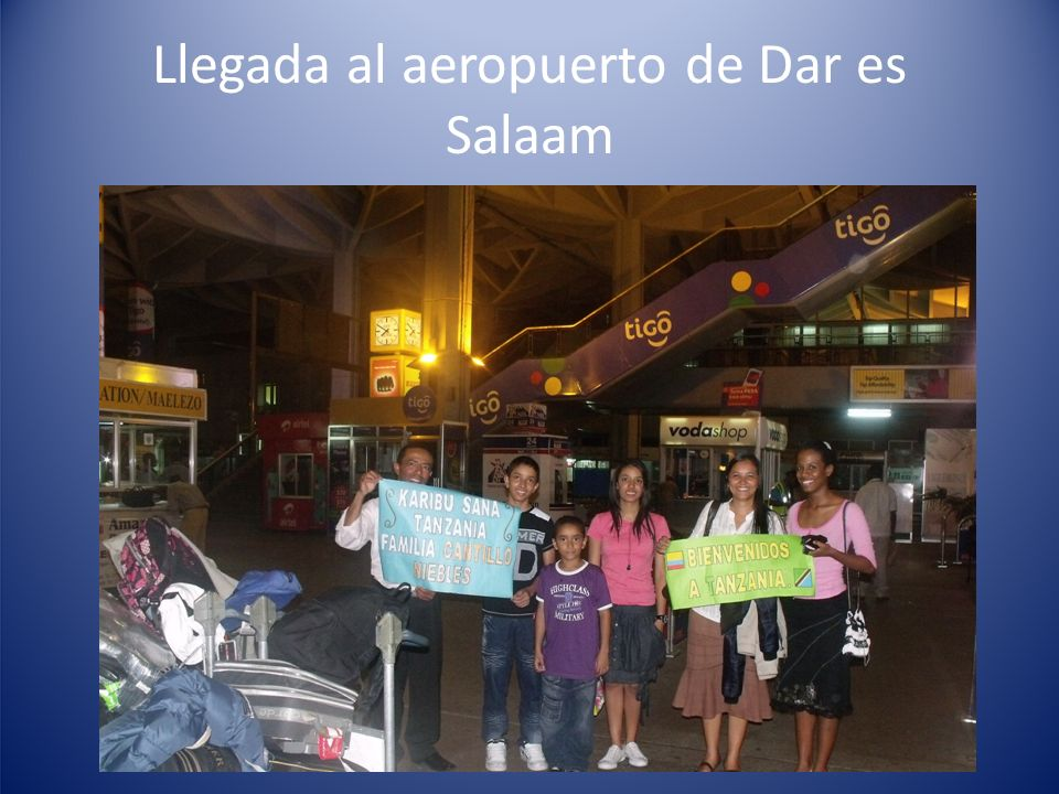 Llegada al aeropuerto de Dar es Salaam