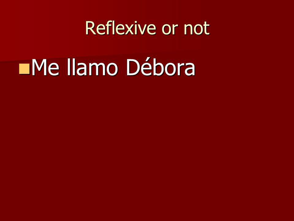 Rules A reflexive verb reflects A reflexive verb reflects me veo Myself I seeI see myself