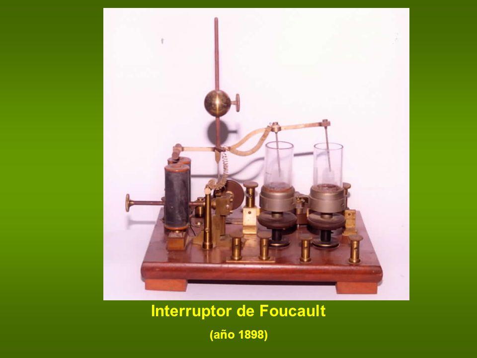 Interruptor de Foucault (año 1898)