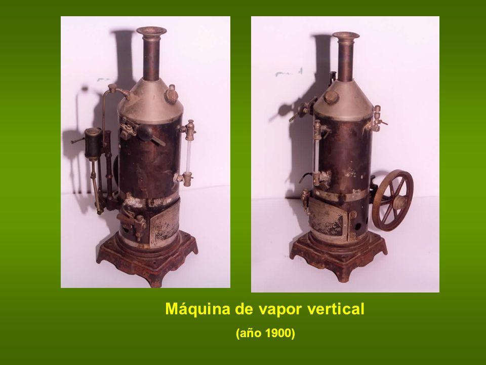 Máquina de vapor vertical (año 1900)