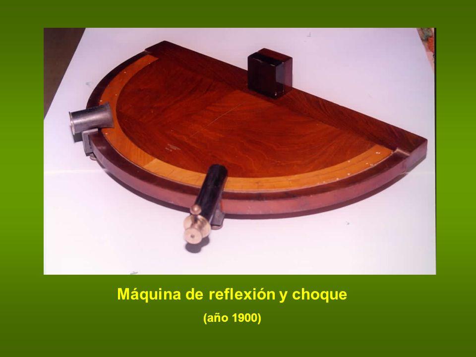 Máquina de reflexión y choque (año 1900)