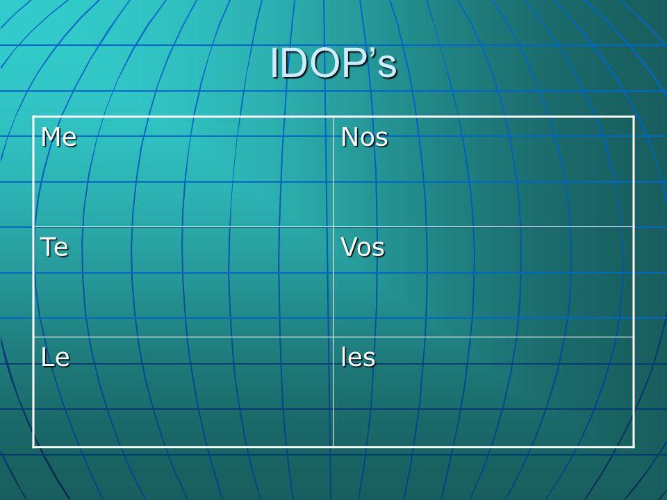 IDOPs MeNos TeVos Leles