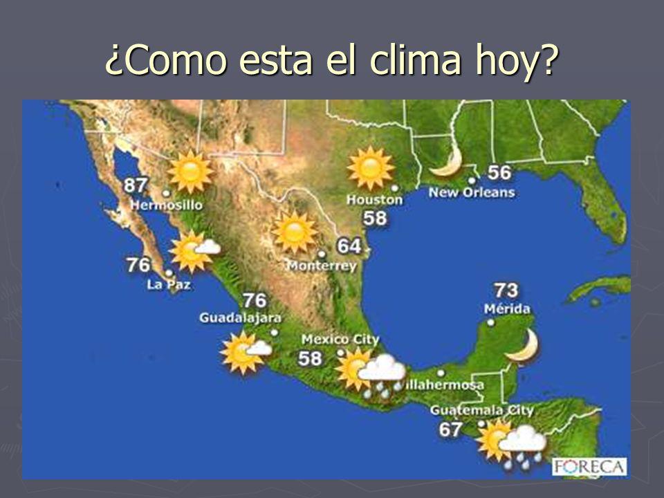 ¿Como esta el clima hoy?