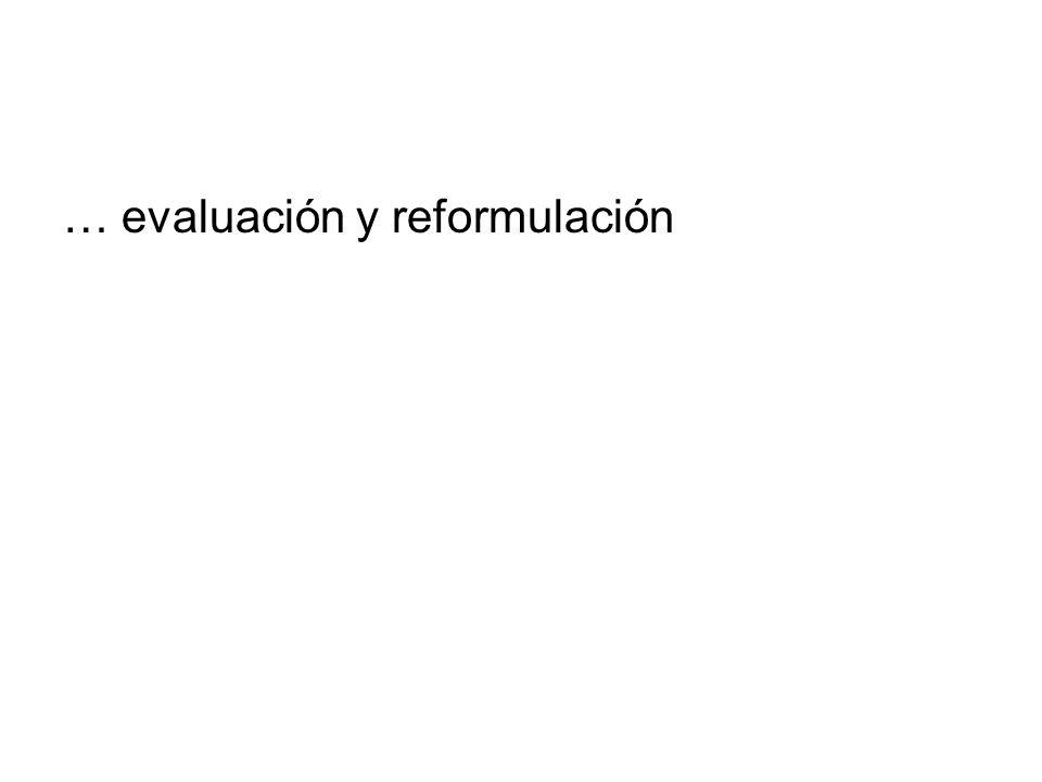 … evaluación y reformulación