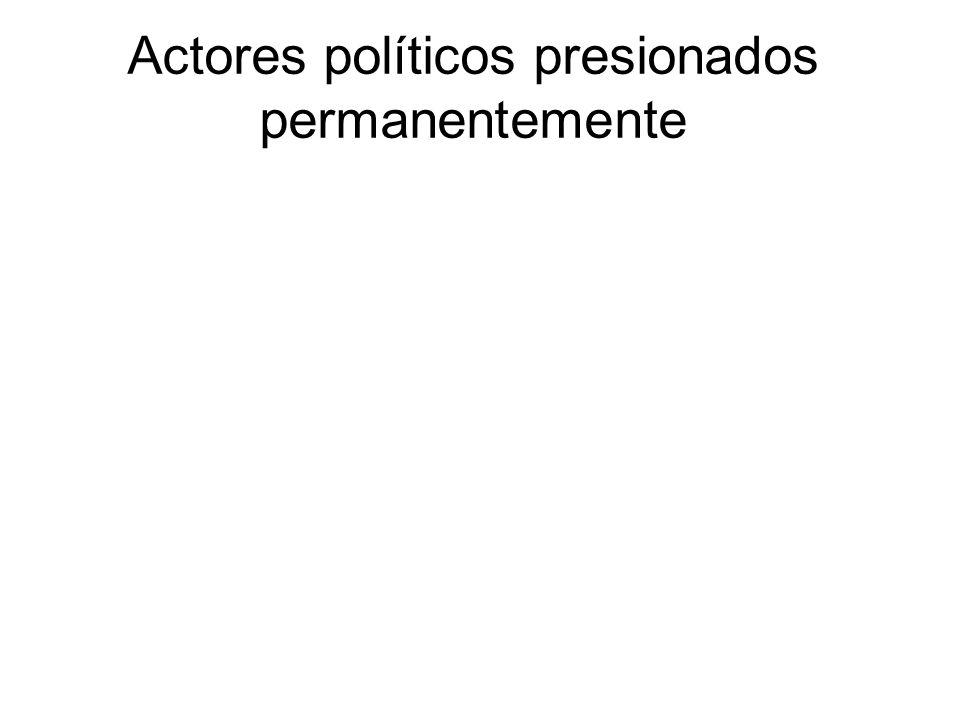 Actores políticos presionados permanentemente