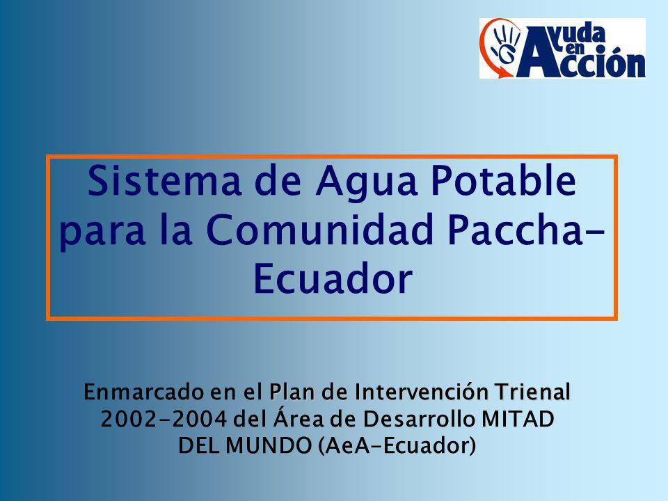 Plan de Intervención Trienal Enmarcado en el Plan de Intervención Trienal 2002-2004 del Área de Desarrollo MITAD DEL MUNDO (AeA-Ecuador) Sistema de Ag
