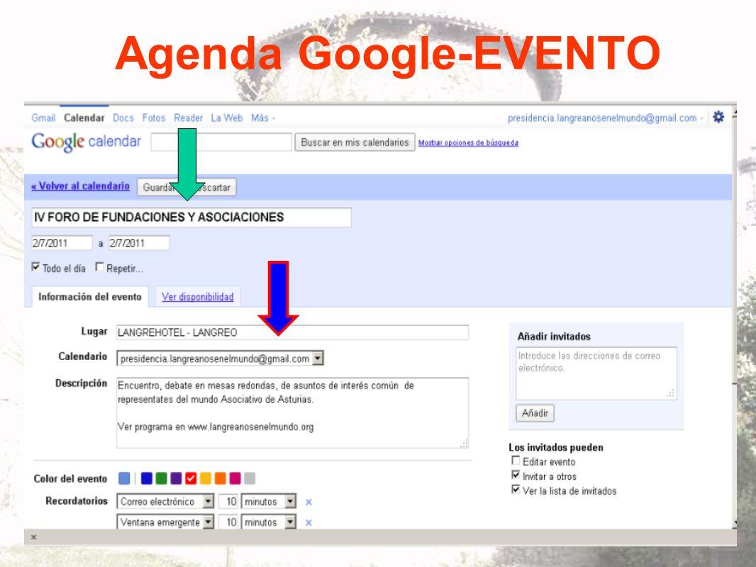 Agenda Google-EVENTO