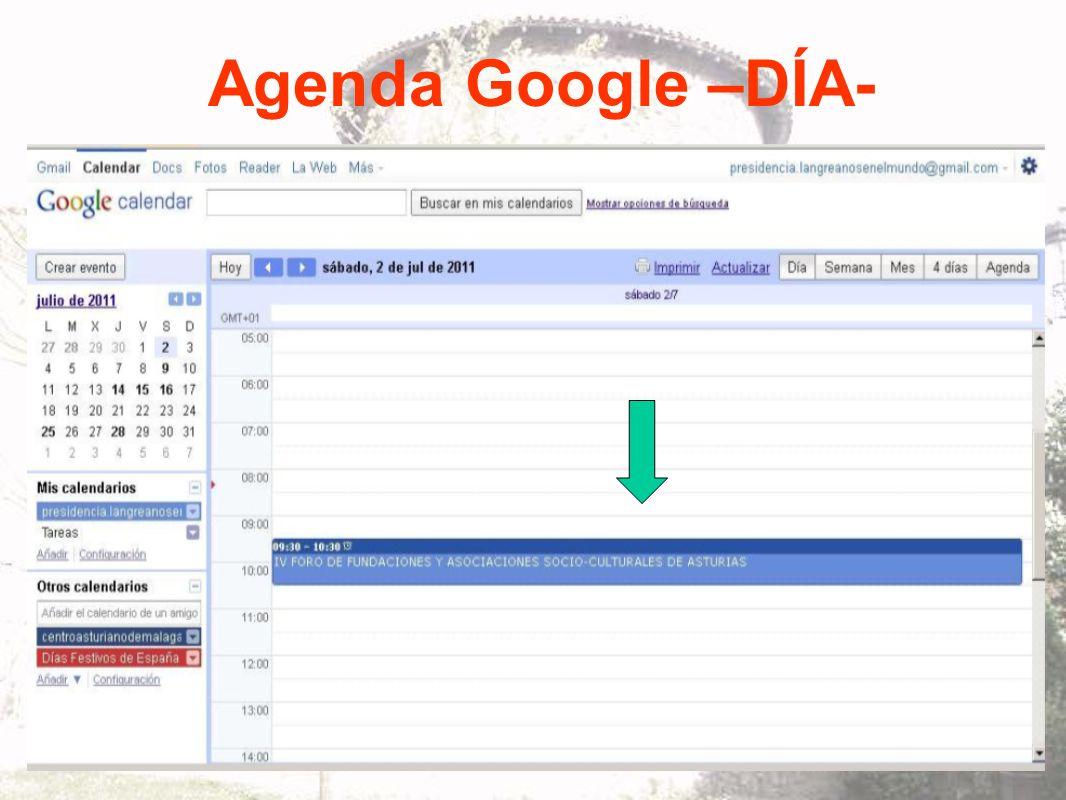 Agenda Google –DÍA-